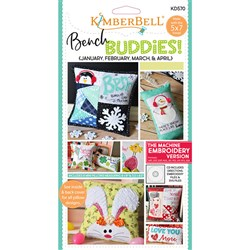 Bench Buddy Series Jan Feb Mar Apr Machine Embroidery CD