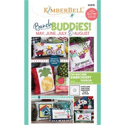 Bench Buddy May June July and August Machine Embroidery Designs CD
