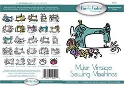 Mylar Vintage Sewing Machine