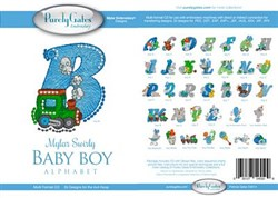 Mylar Swirly - Baby Boy Alphabet