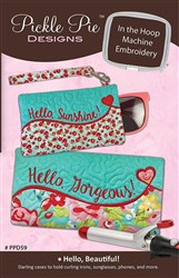 Hello Beautiful In The Hoop Embroidery Designs CD