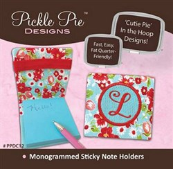 Monogrammed Sticky Note Holders