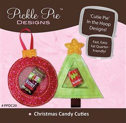 Christmas Candy Cuties ITH Embroidery Designs CD