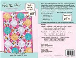 Lemon Meringue Quilt In The Hoop Machine Embroidery Designs Set CD