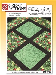 Holly Jolly Embroidery Quilting
