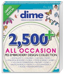 2500+ All Occasion PES Embroidery Design Collection