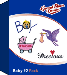 Baby Designs Package 2 embroidery design pack