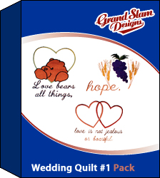 Wedding Quilt Designs Package (#1) embroidery design pack