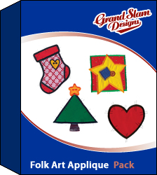 Folk Art Designs Applique embroidery design pack