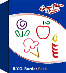 Outline Designs Package embroidery design pack