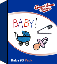 Baby Designs Package (#3) embroidery design pack