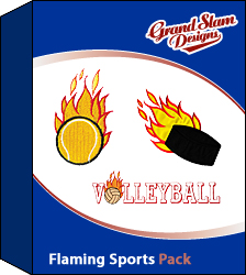 Flaming Sports Designs Package