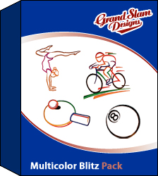 Multicolor Sports Blitz Designs