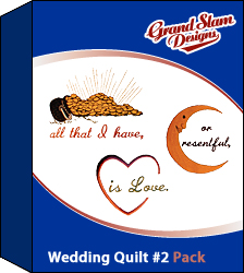 Wedding Quilt Designs Pack embroidery design pack