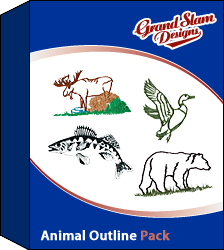 Animal Outline Designs Package