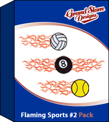 Flaming Sports Designs Package (#2)