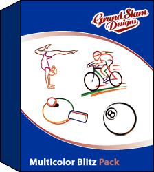 Multicolor Sports Blitz Designs