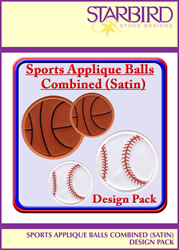 Sports Applique Pack embroidery design pack