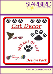 Cat Décor Design Pack embroidery design pack