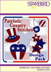 Patriotic Country Design Pack embroidery design pack