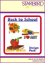 Back to School Pack embroidery design pack