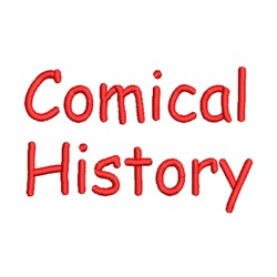 AMD Comical History embroidery font
