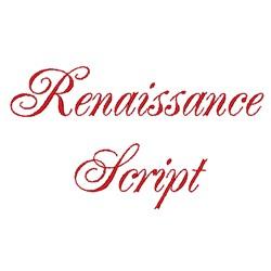 Renaissance Script embroidery font