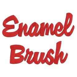 AMD Enamel Brush embroidery font