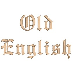 AMD Old English embroidery font