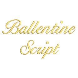 AMD Ballentine Script embroidery font