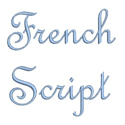 AMD French Script embroidery font