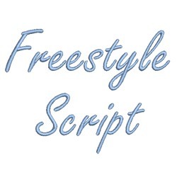 Freestyle Script embroidery font