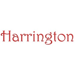 Harrington embroidery font