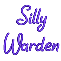 AMD Silly Warden embroidery font