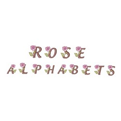 Rose Alphabet embroidery font
