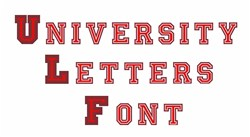 University Letters Font Embroidery Font