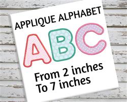 Applique Alphabet, Applique Letter, Applique Font, Embroidery Font, Embroidery Alphabet embroidery font