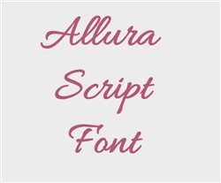 Allura Embroidery Font embroidery font