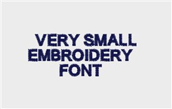 Very Small Embroidery Machine Font  embroidery font
