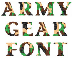 Camo embroidery font