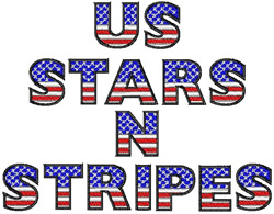 4f45d3ad6ca US Stars N Stripes by Bella Mia Designs Home Format Fonts on  EmbroideryDesigns.com