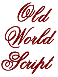 Old Script embroidery font