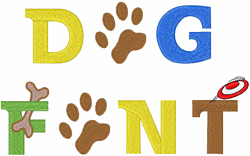 Dog Font embroidery font