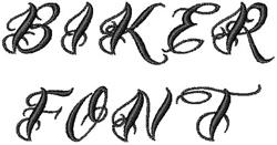 Biker Font embroidery font