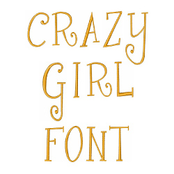 Crazy Girl Font embroidery font