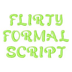 Flirty Formal Script embroidery font