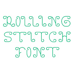 Rollin  Stitch Font embroidery font