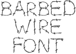 Barbed Wire Font embroidery font