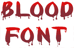 Blood Font By Concord Collections Home Format Fonts On Embroiderydesigns Com