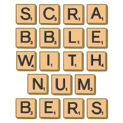 Scrabble Tiles With Numbers embroidery font